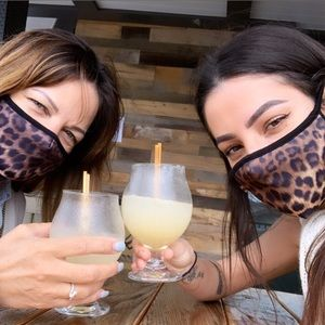 Accessories - IN STOCK NOW USA Cotton Base Leopard Face Mask